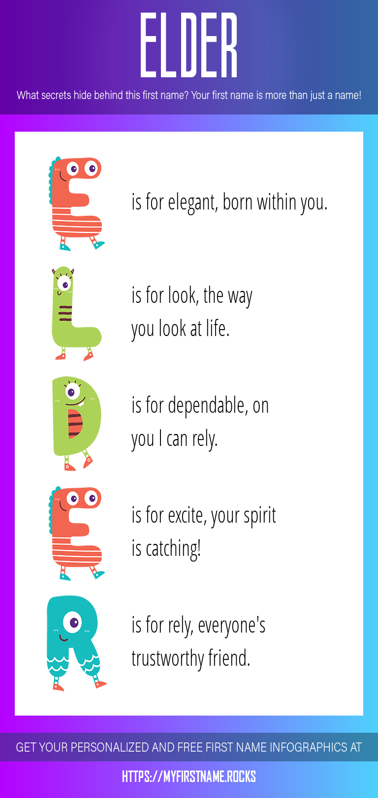 Elder Infographics
