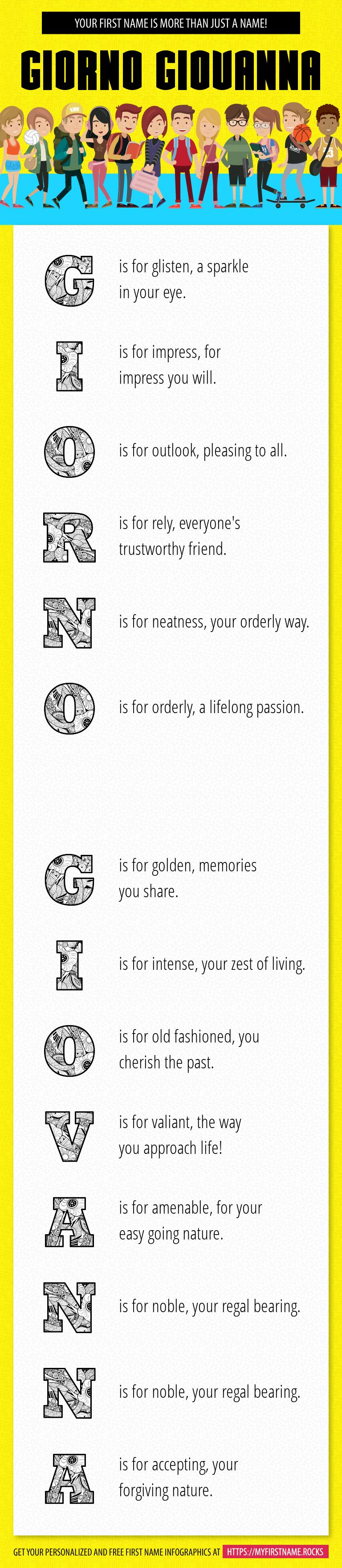Giorno Giovanna Infographics
