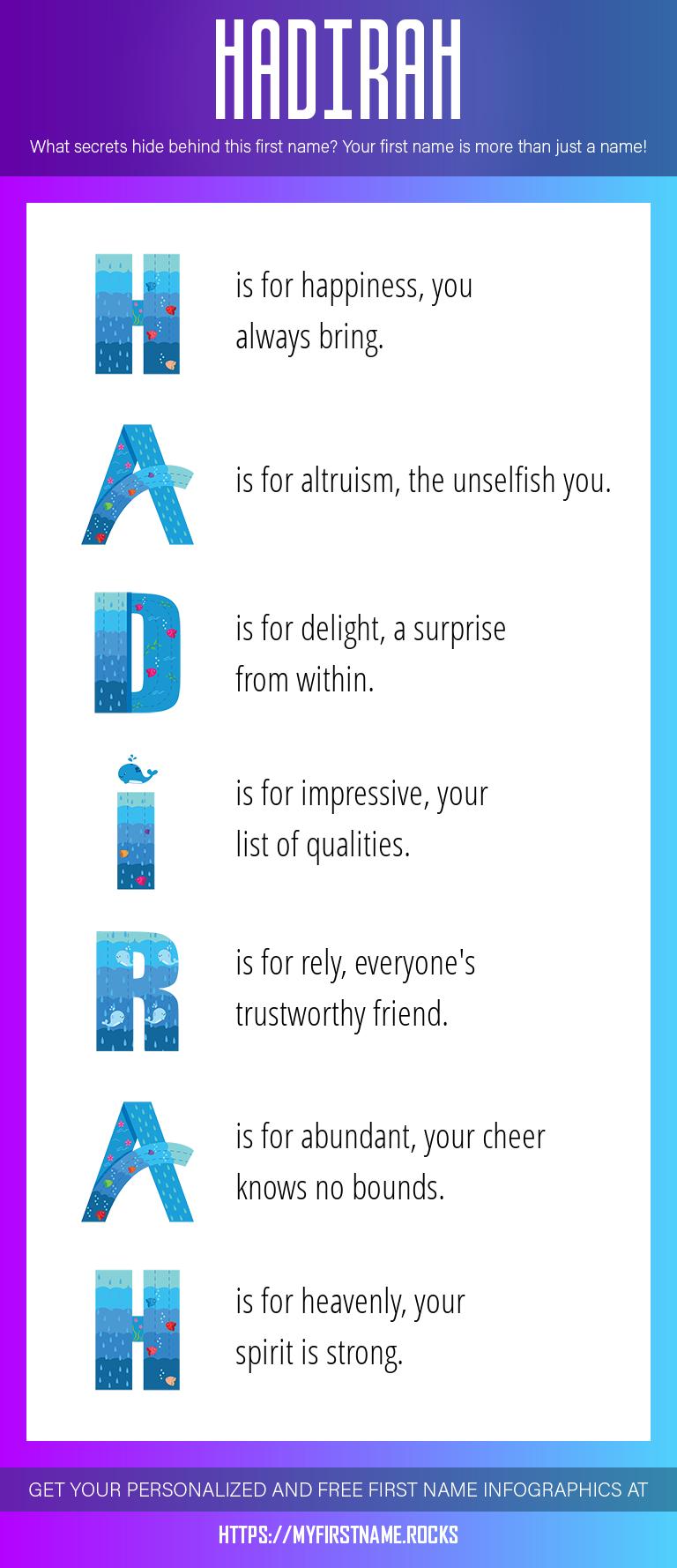 Hadirah Infographics