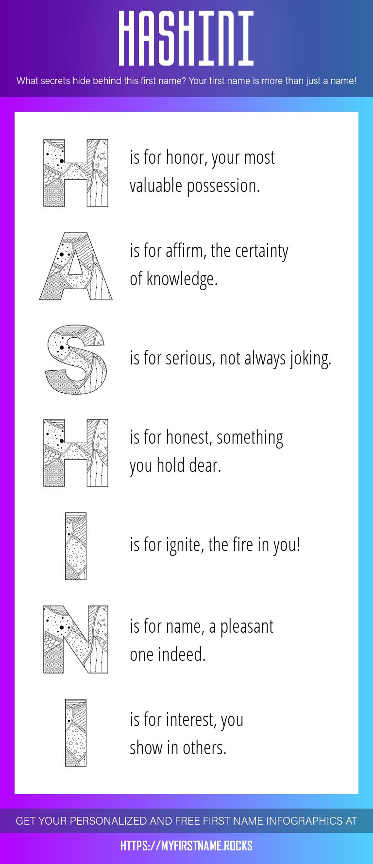 Hashini Infographics