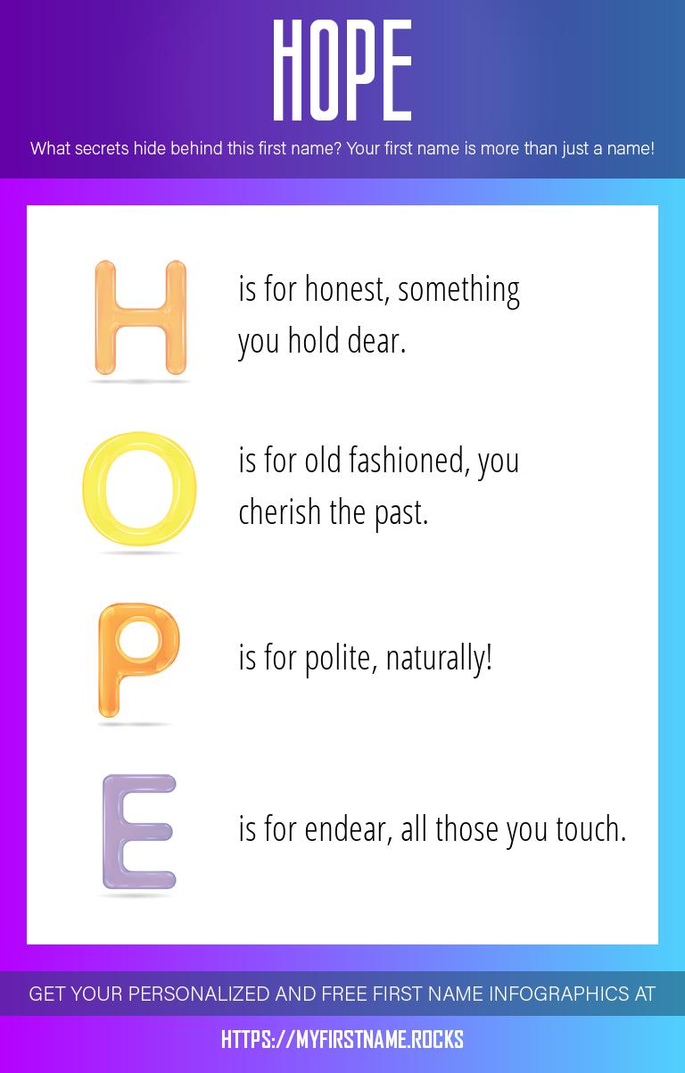 Hope Infographics