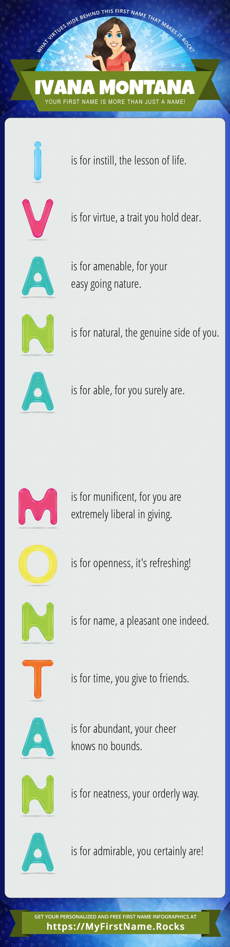 Ivana Montana Infographics
