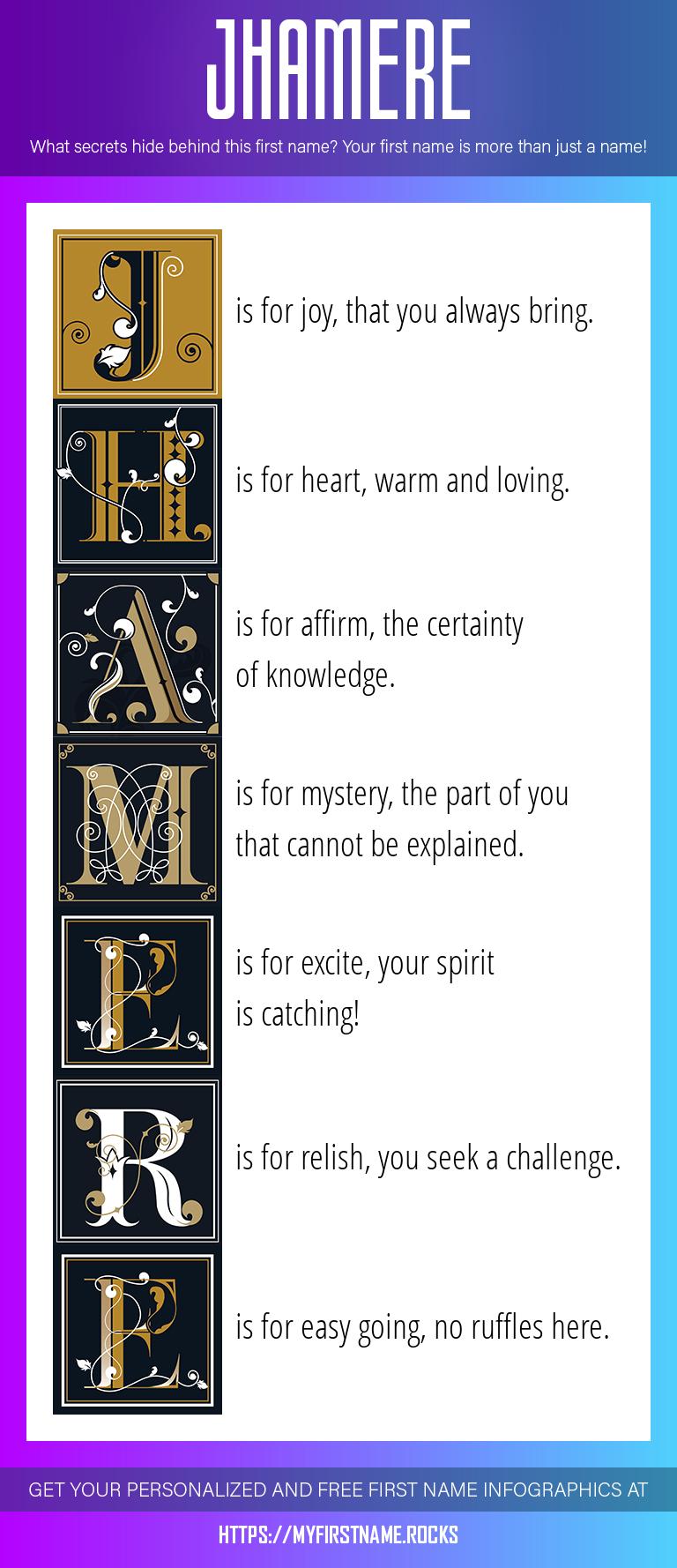 Jhamere Infographics