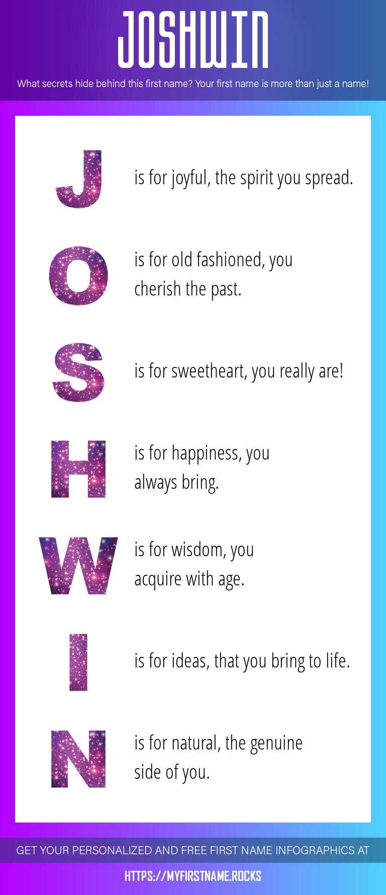 Joshwin Infographics