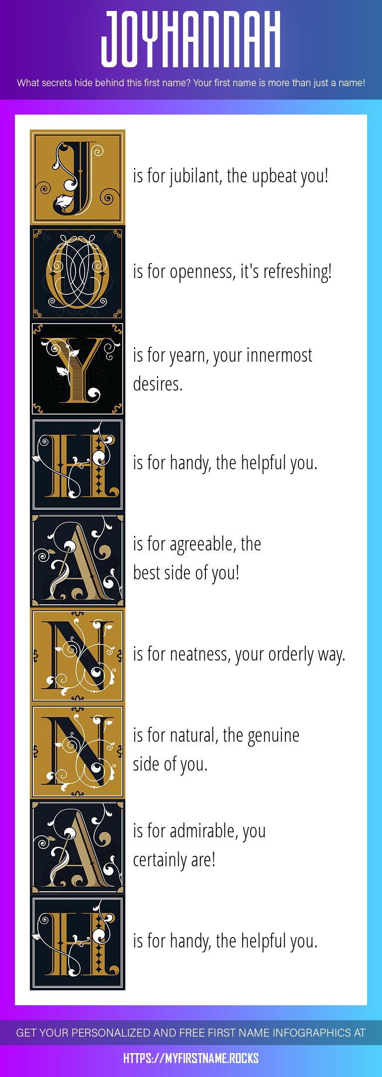 Joyhannah Infographics