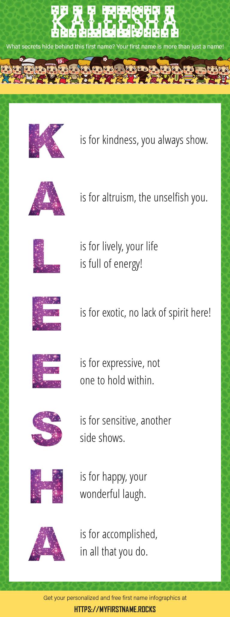 Kaleesha Infographics