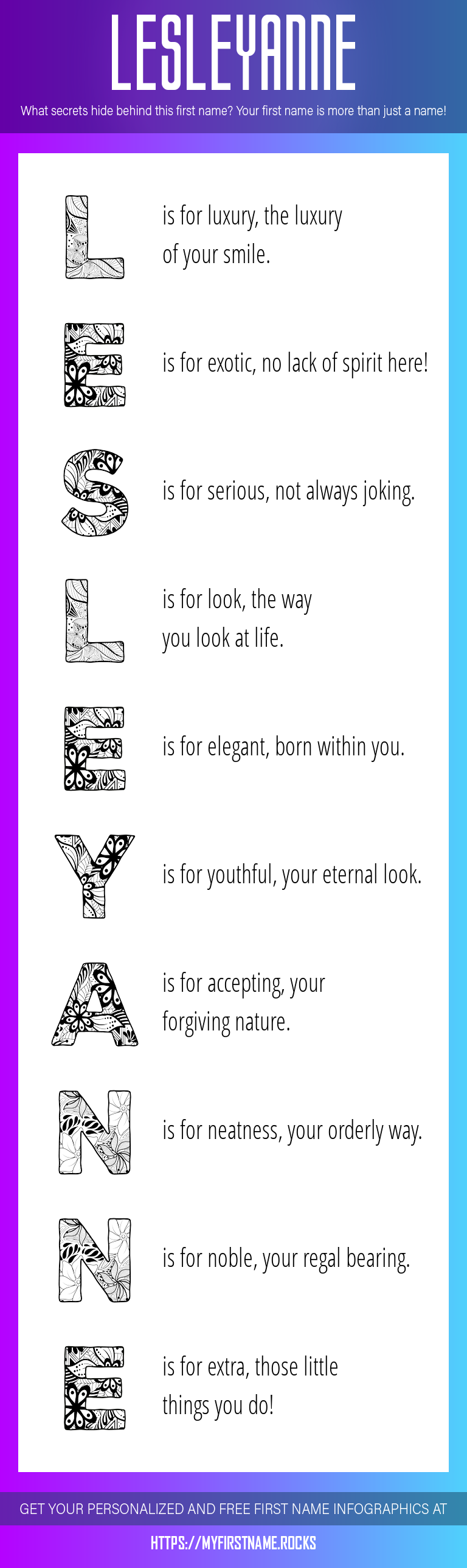 Lesleyanne Infographics