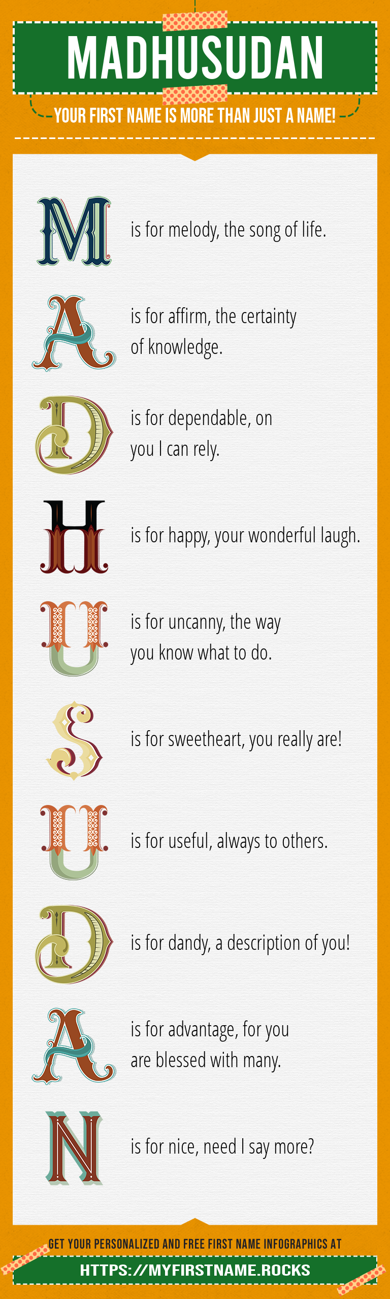 Madhusudan Infographics