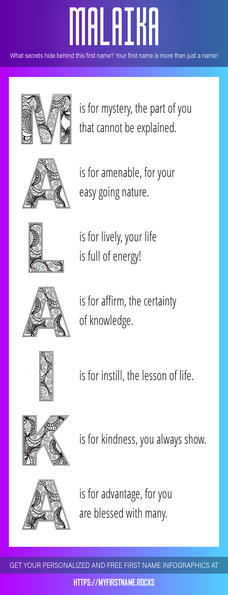 Malaika Infographics