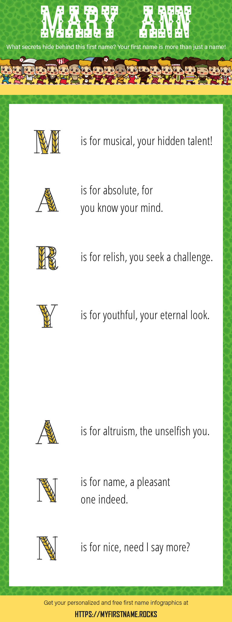 Mary Ann Infographics