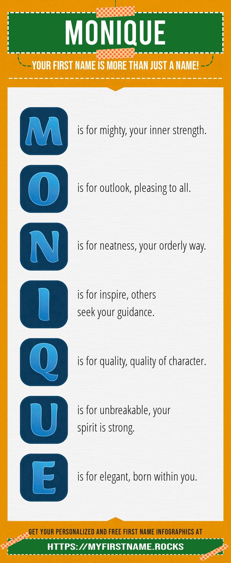 Monique Infographics