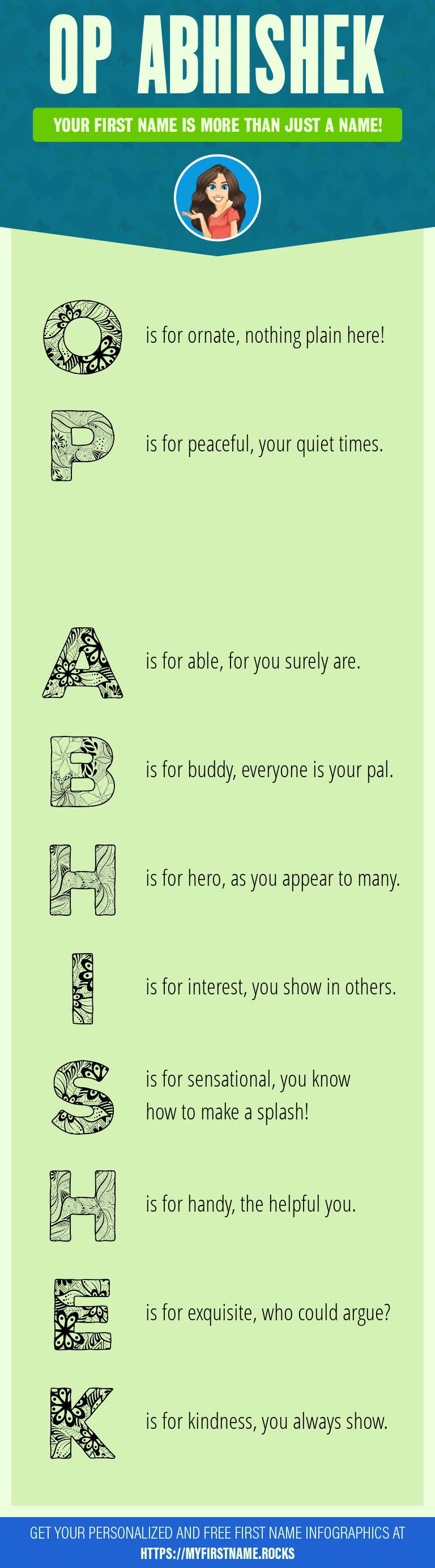 Op Abhishek Infographics