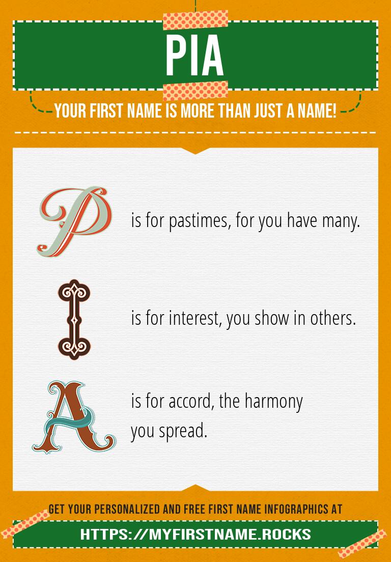 Pia Infographics