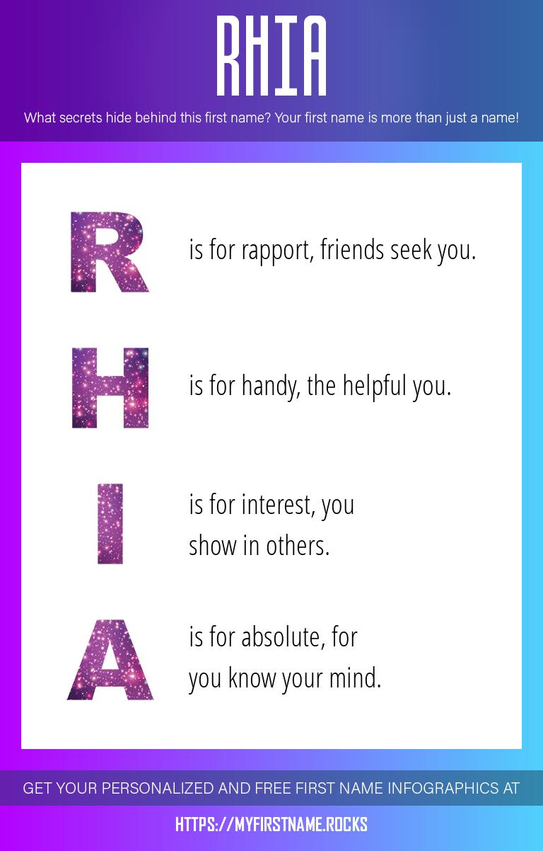 Rhia Infographics