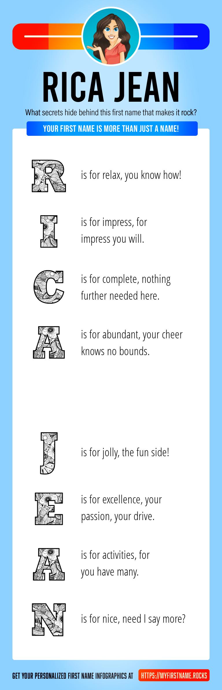 Rica Jean Infographics