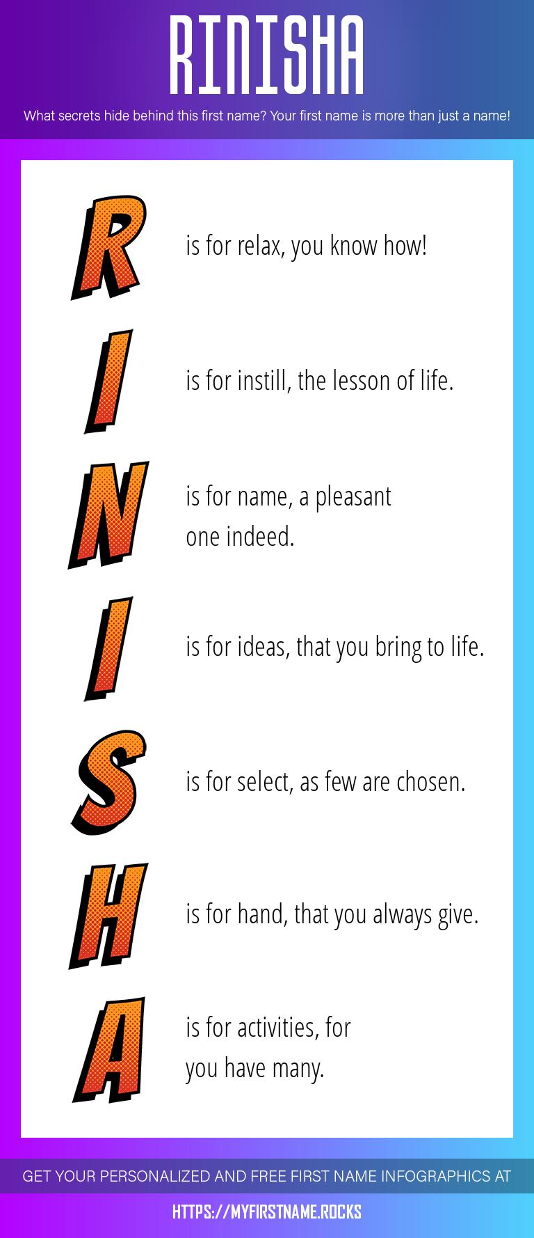 Rinisha Infographics