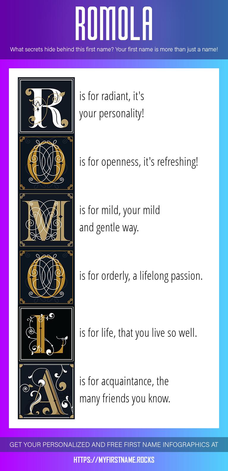 Romola Infographics