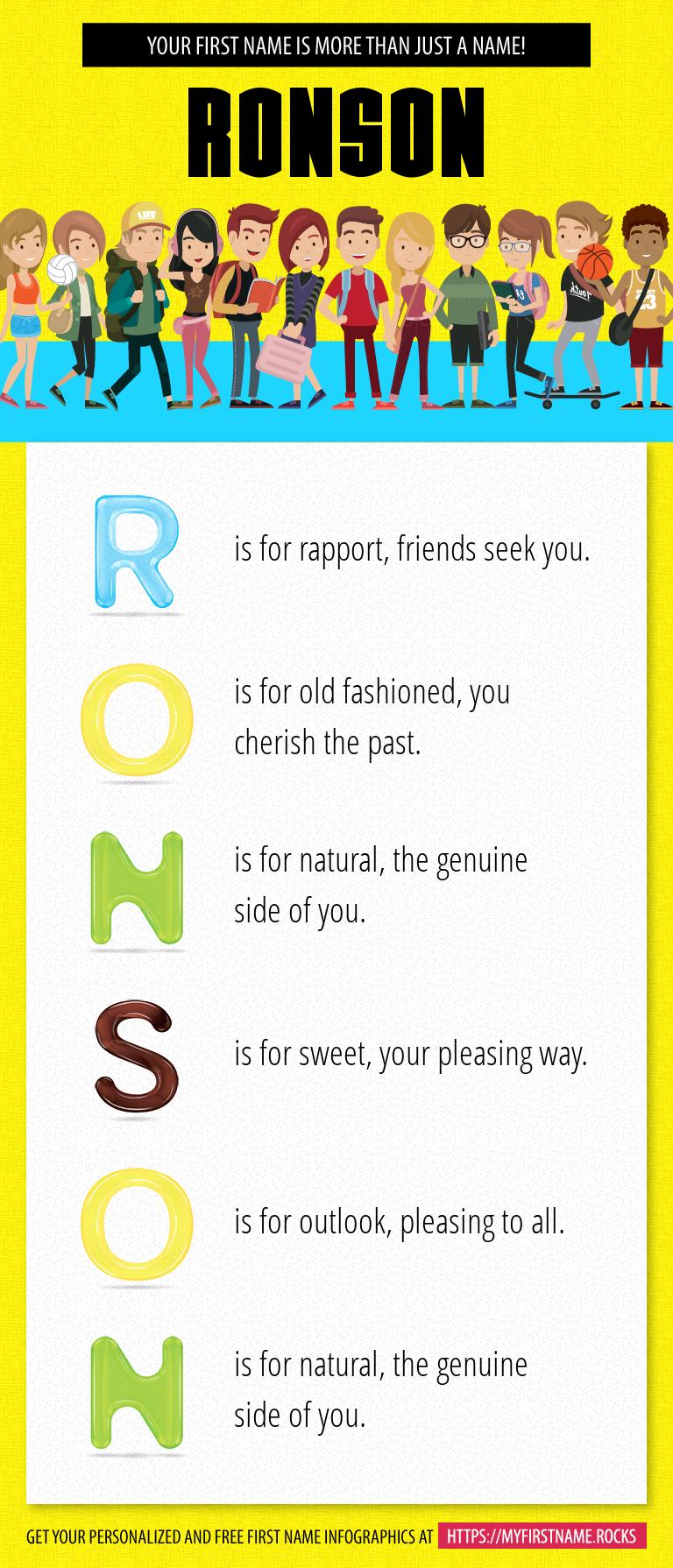 Ronson Infographics