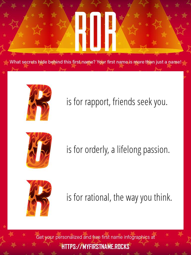 Ror Infographics