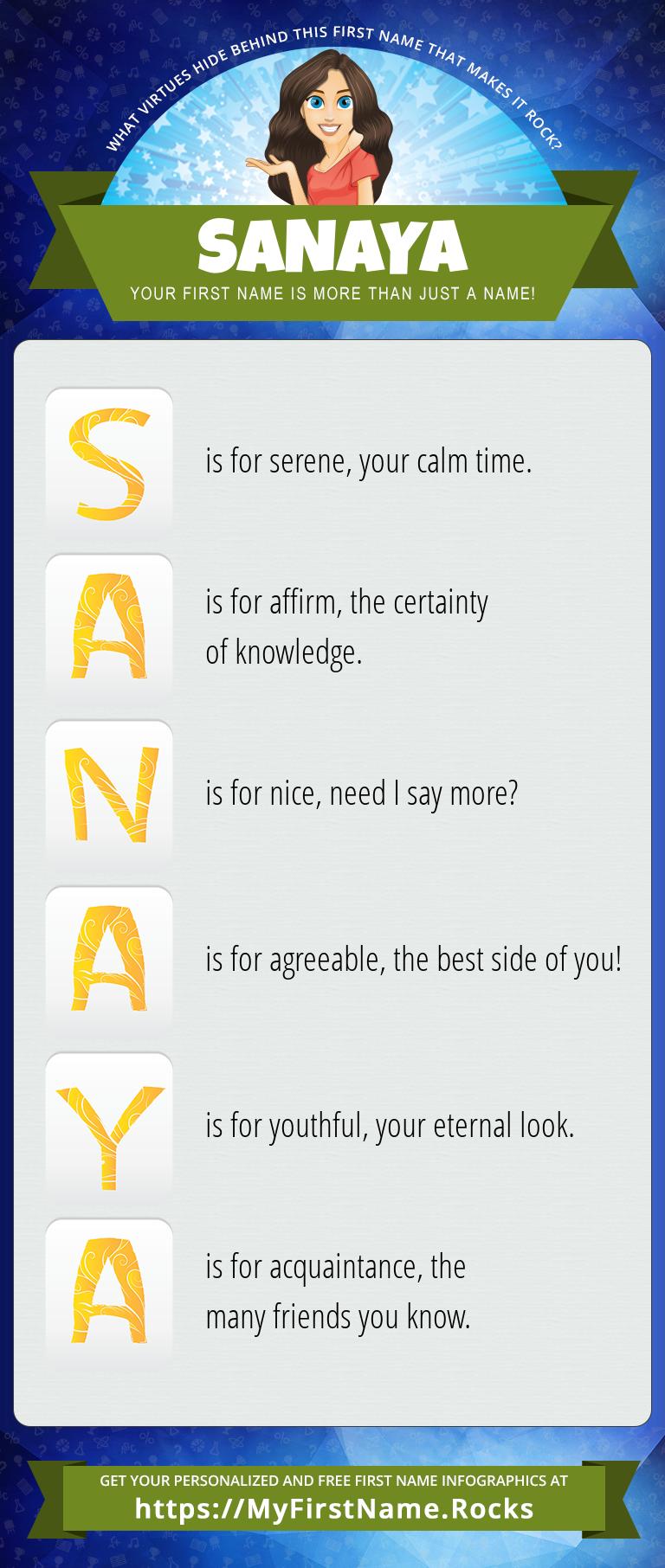 Sanaya Infographics
