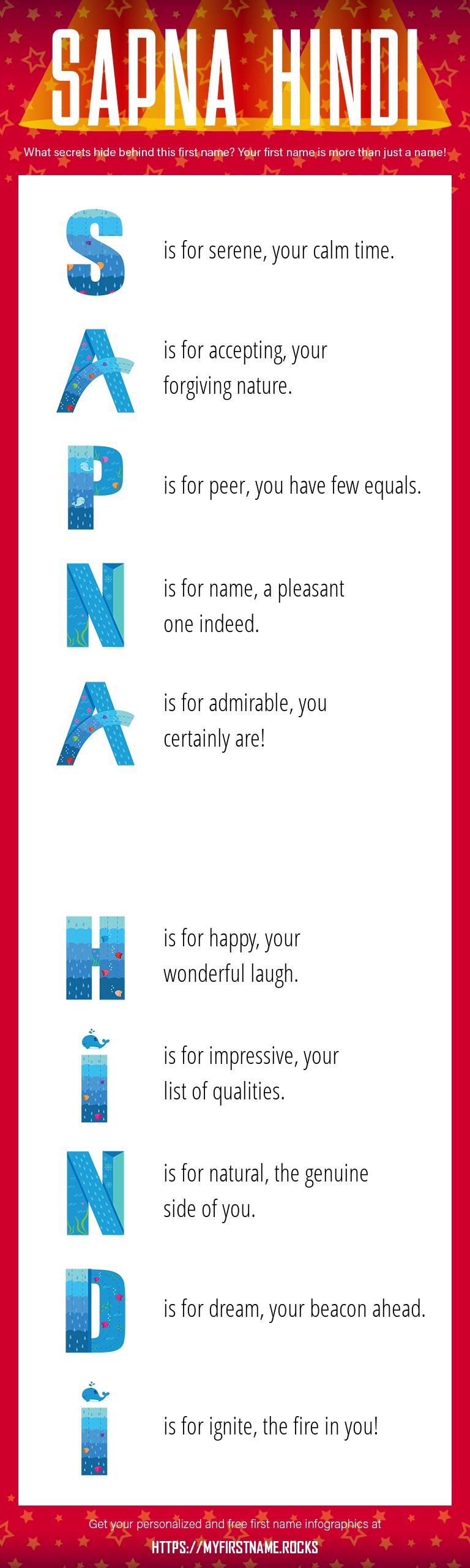 Sapna Hindi Infographics