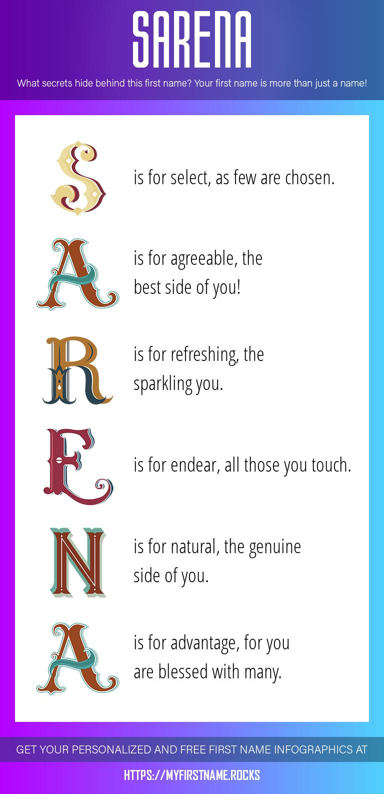 Sarena Infographics