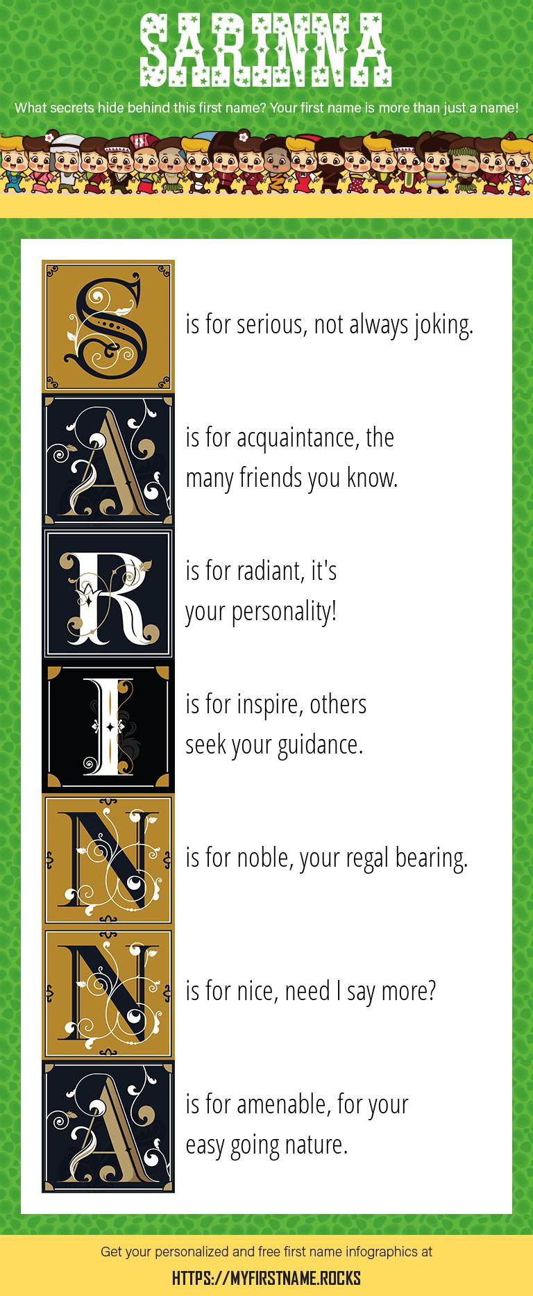 Sarinna Infographics