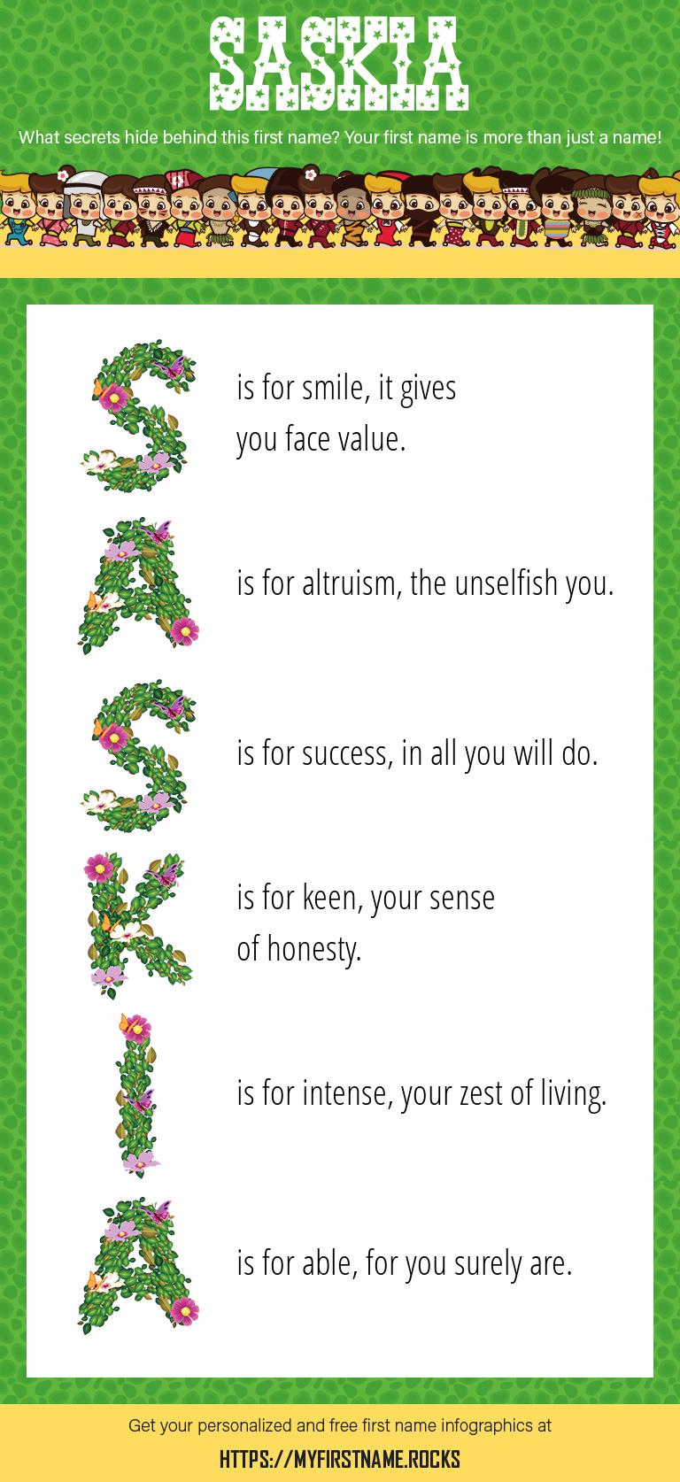 Saskia Infographics