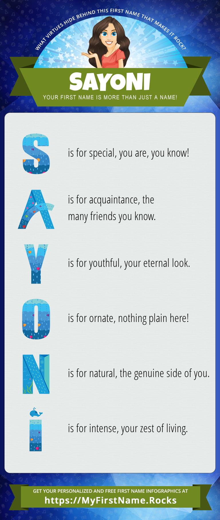 Sayoni Infographics