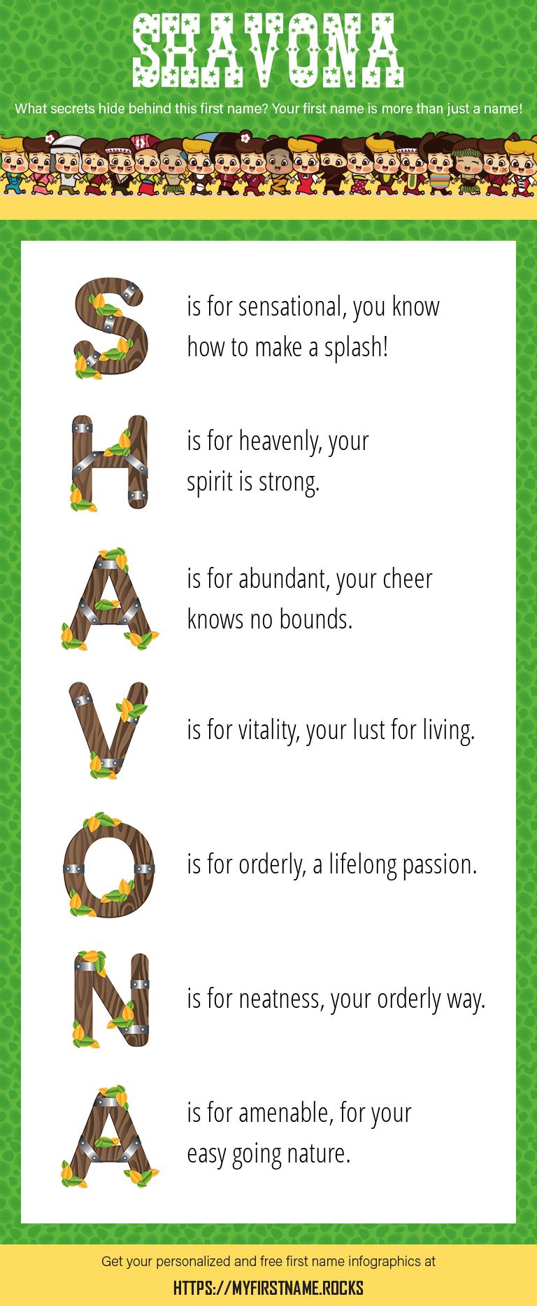 Shavona Infographics