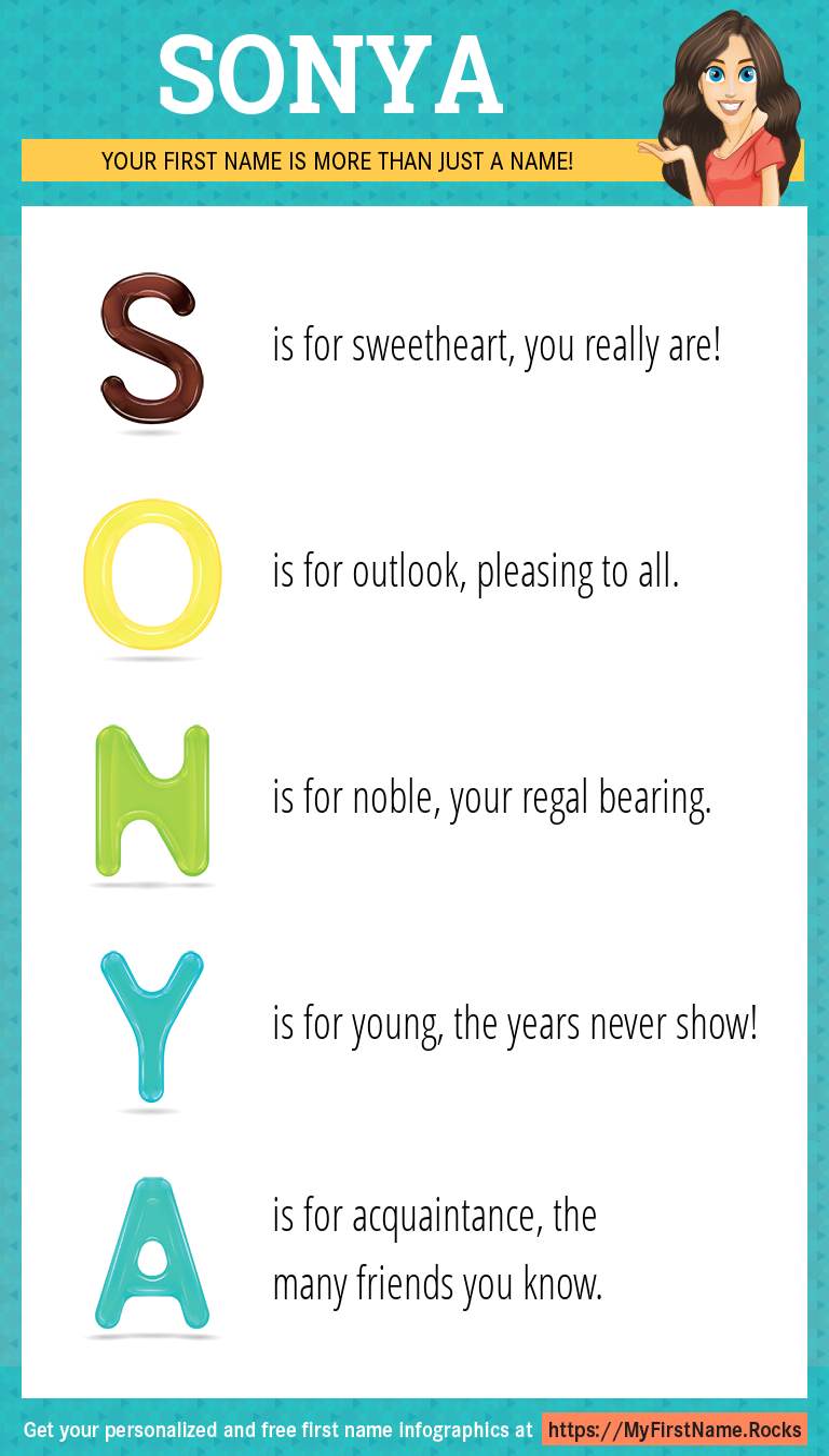 Sonya Infographics