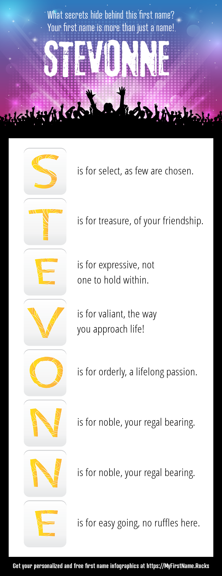Stevonne Infographics