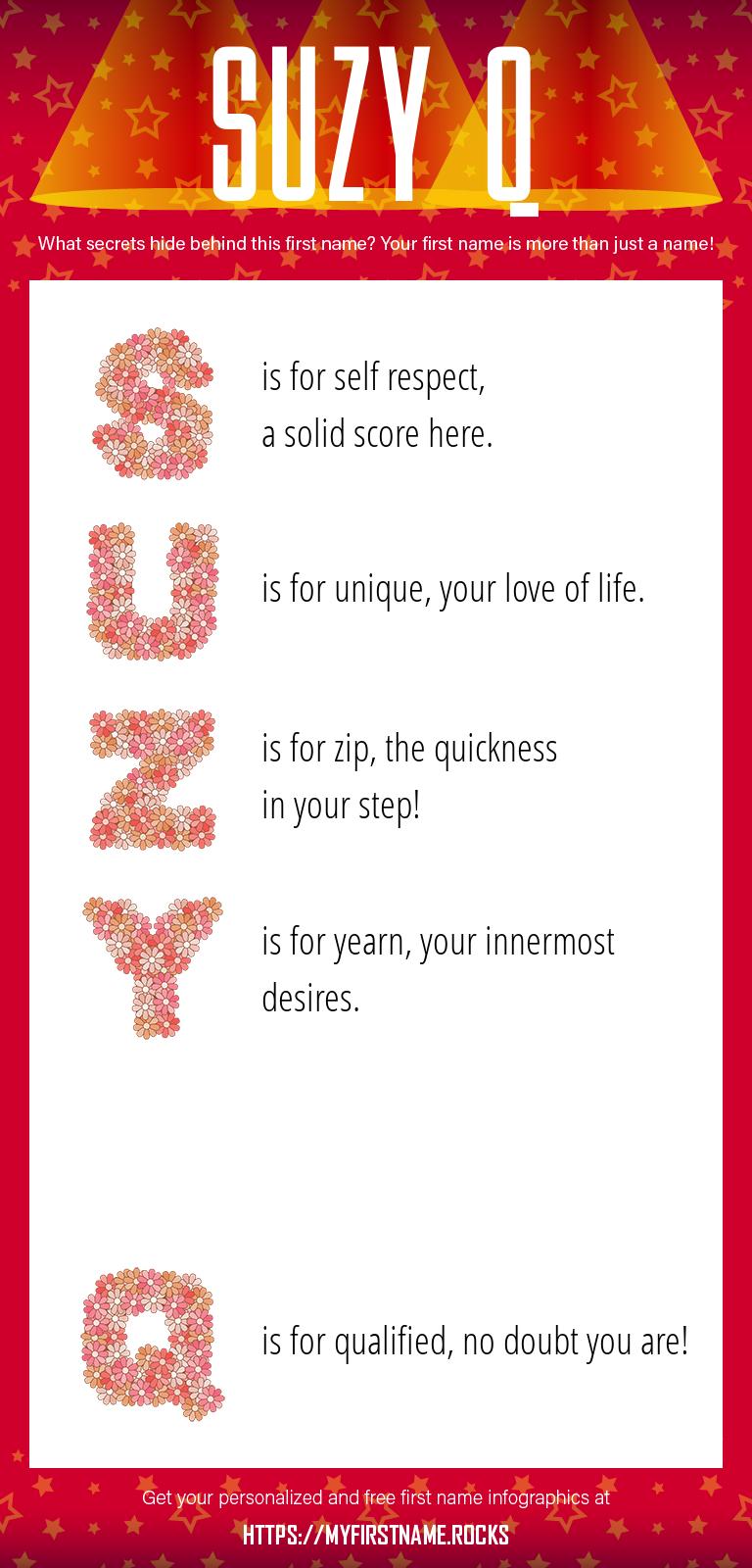 Suzy Q Infographics