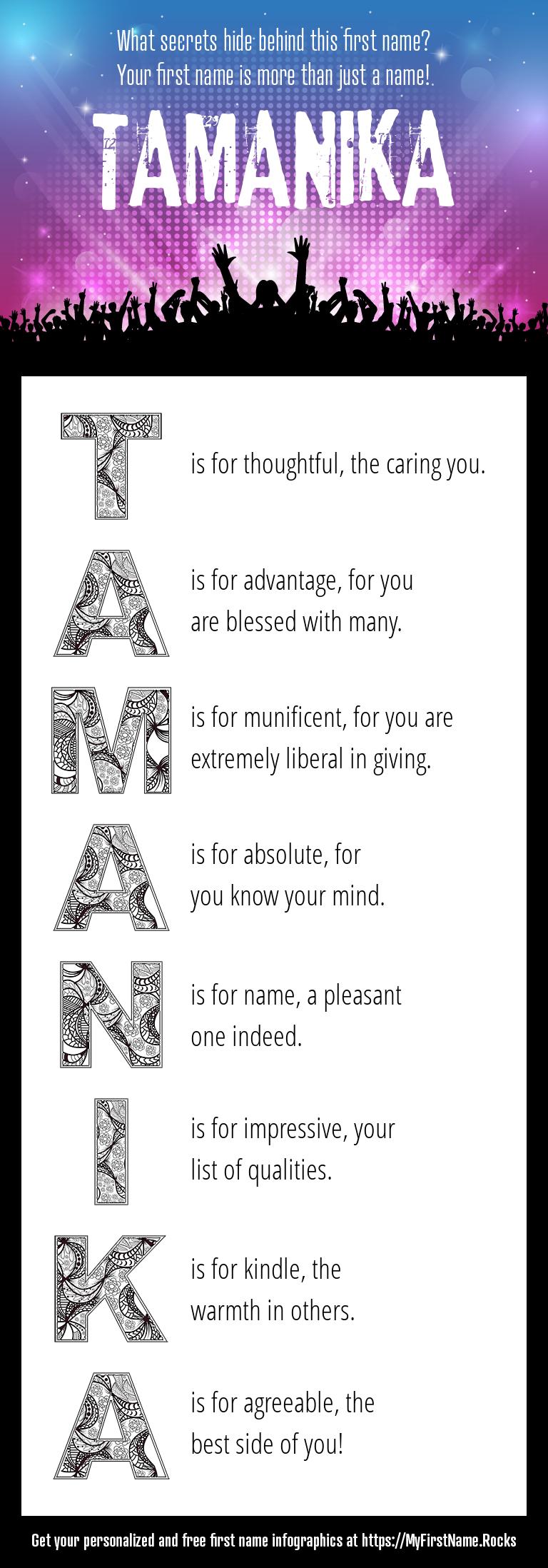 Tamanika Infographics