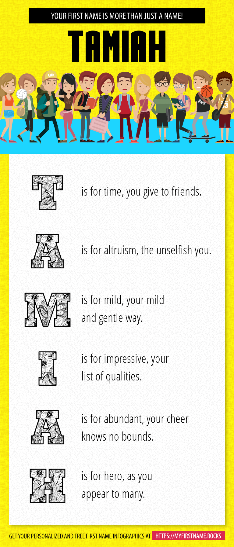 Tamiah Infographics