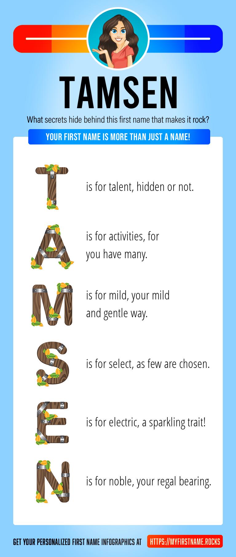 Tamsen Infographics
