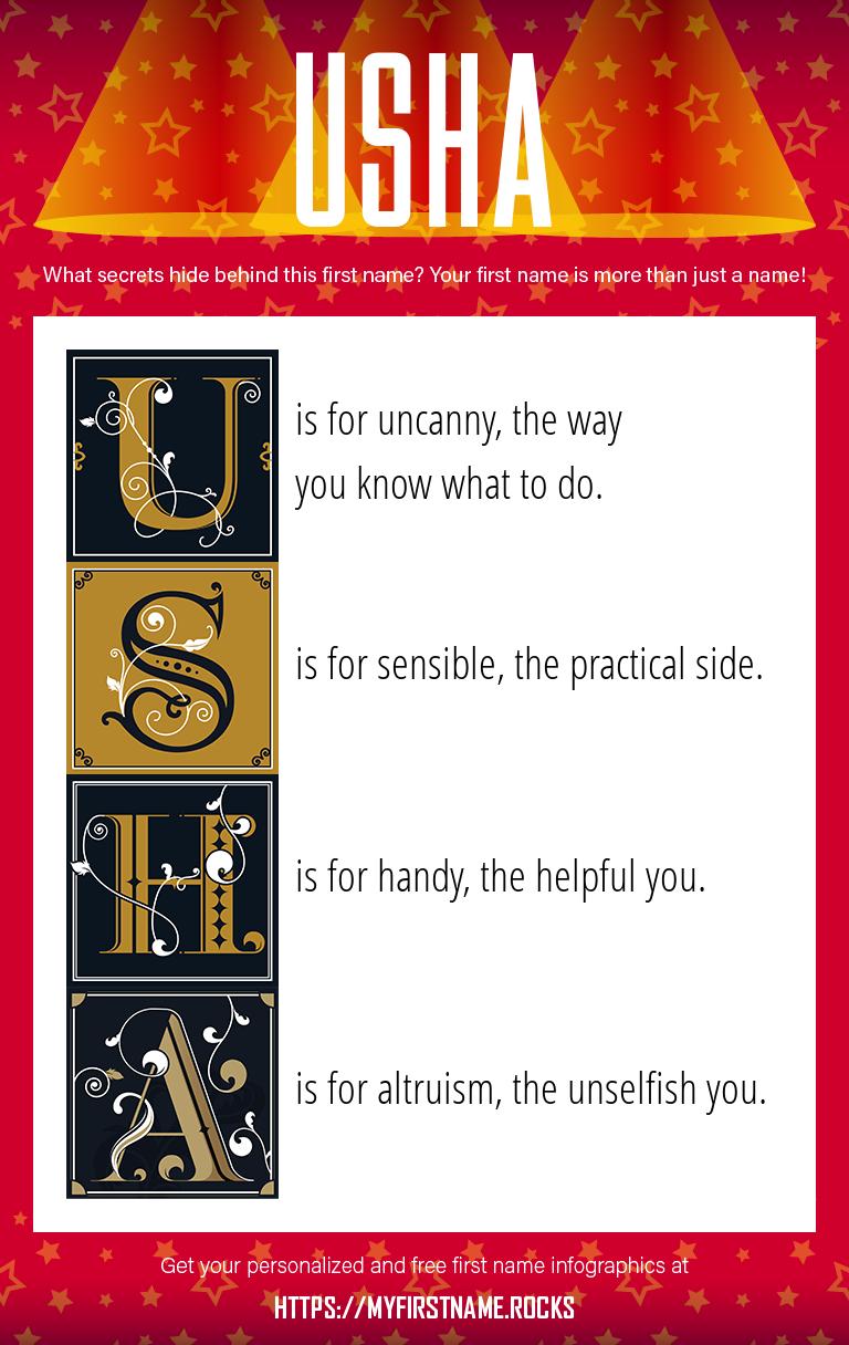 Usha Infographics