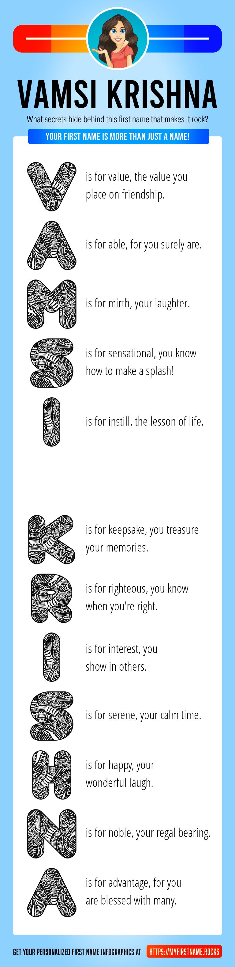 Vamsi Krishna Infographics