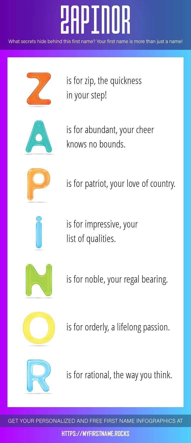 Zapinor Infographics